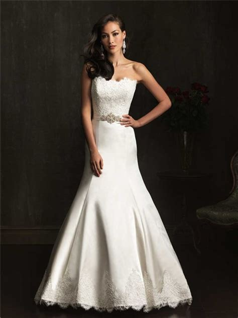 design dress satin designer mermaid strapless lace satin wedding dress with