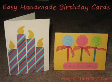 Simple Handmade Cards For Birthday - easy birthday card ideas