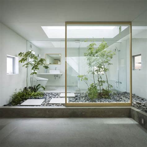 japanese house design with garden room inside interior