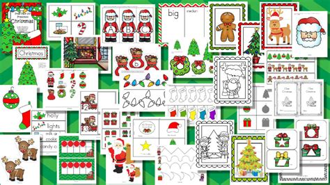 christmas themes pack christmas theme pack for preschool and pre k