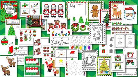 christmas themes for pre k christmas theme pack for preschool and pre k