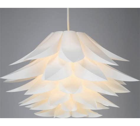 argos chandeliers buy collection lotus shade white at argos co uk your