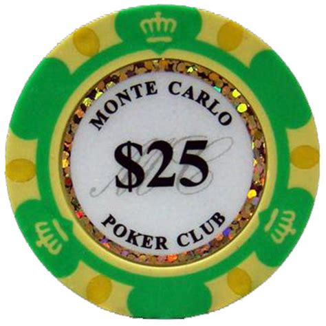 green monte carlo poker chips  chip  cpmc