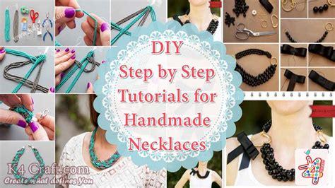 Handmade Step By Step - diy step by step tutorials for handmade necklaces k4 craft