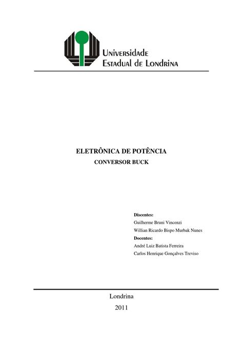 Conversor Buck by WILLIAN BISPO - Issuu