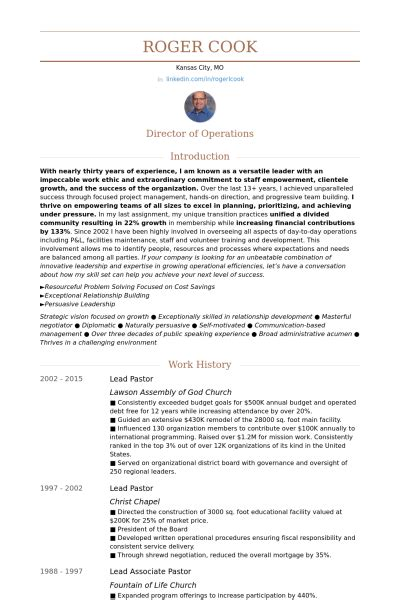 Pastor Resume by Lead Pastor Resume Sles Visualcv Resume Sles Database