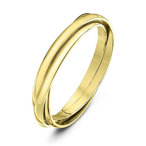 9kt yellow gold 2mm russian wedding ring