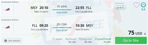 cheap non stop between new orleans and fort lauderdale for only 75 checked bag incl