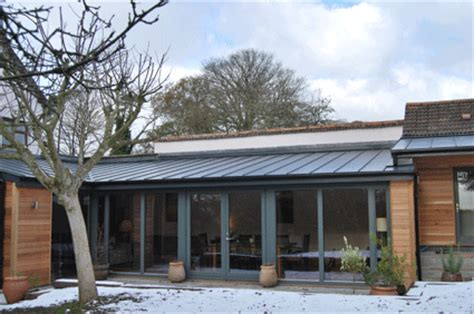 Modern Detached Garage expensive zinc or cheaper ply membrane like sarnafil for