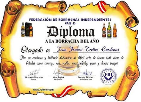 Imagenes Chistosas De Diplomas | generar tu diploma de borracho taringa