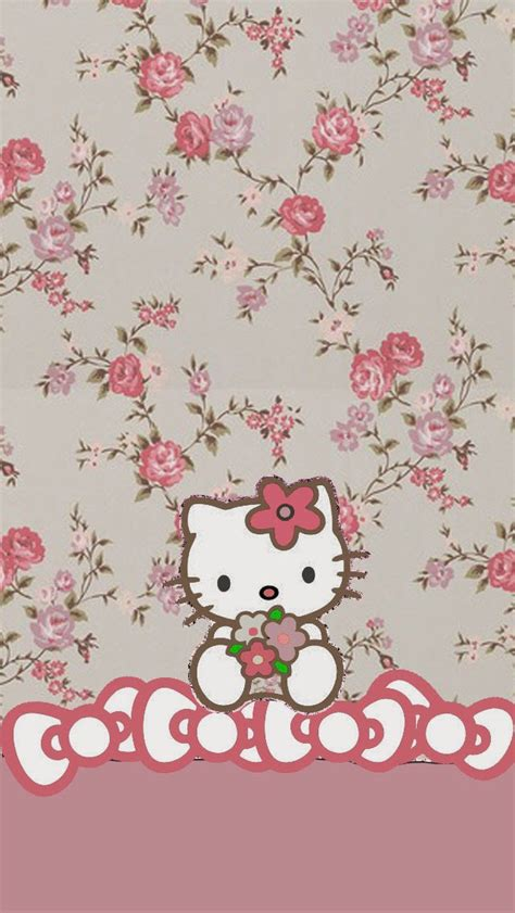 hello kitty wallpaper on tumblr dazzle my droid 4 piece floral hello kitty walls