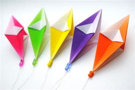 Origami Paper Kites - origami hanging decorations hanging decorations planes