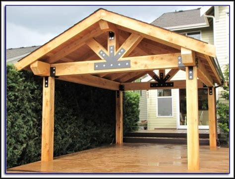 wood patio cover kits patios home decorating ideas
