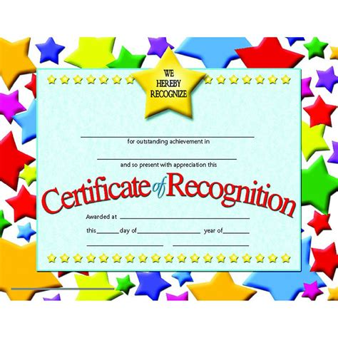 certificates of recognition 30 pk certificate school