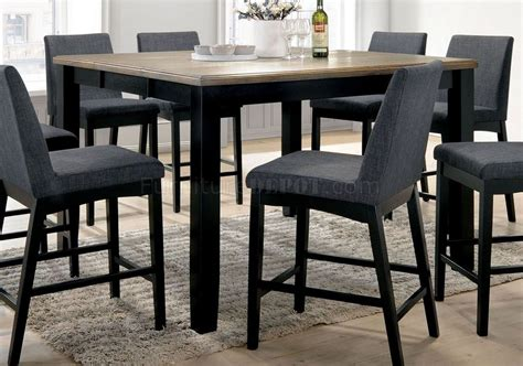 1 Set Mariam mariam counter ht dining set 7pc cm3375pt in black oak w opt