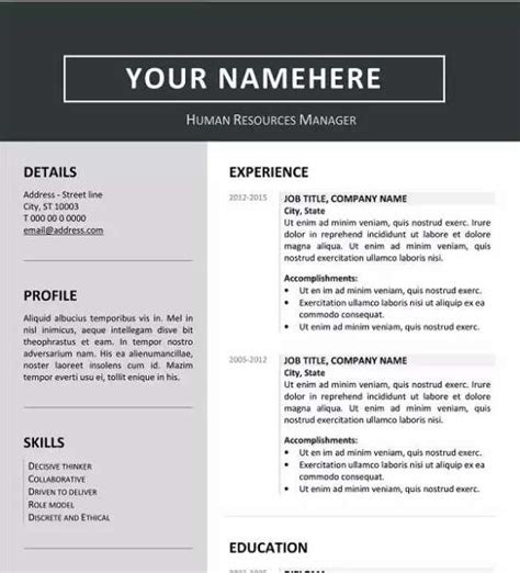 Professional Resume Templates In Word by 12 Professional Resume Templates In Word Format Xdesigns