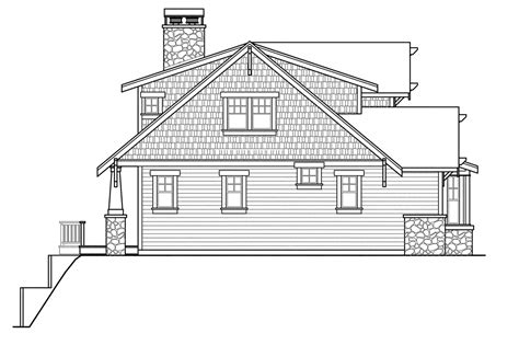 bungalow floor plan with elevation craftsman house plans cedarbrook 10 561 associated designs