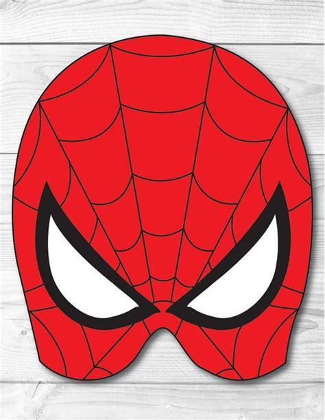 printable mask spiderman 30 amazing free superhero party printables home printables