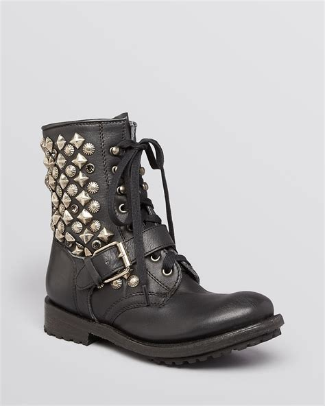 lace up moto boots ash lace up moto boots ryanna studded bloomingdale s