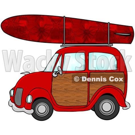 surf car clipart royalty free rf clipart illustration of a woody car