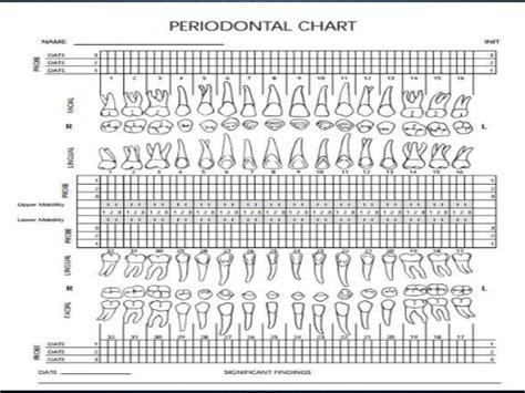 periodontal charting blank perio chart periodontal