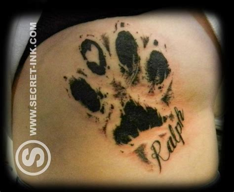 dog print tattoos best 25 paw tattoos ideas on tattoos paw
