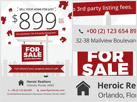 promotional flyer templates realtor promotion flyer template flyerheroes