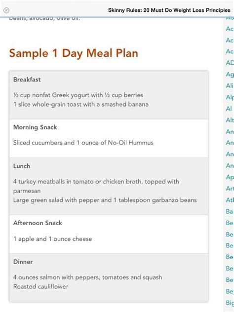 The Daniel Plan 10 Day Detox Meal Plan by The Bob Sle Menu Diet