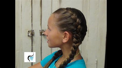 tight double french braid girls hairstyles youtube