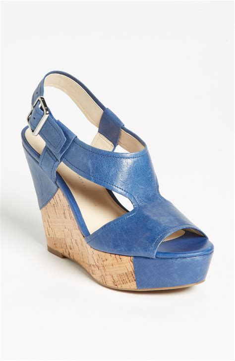 blue wedge sandals franco sarto xenon wedge sandal in blue royal sapphire