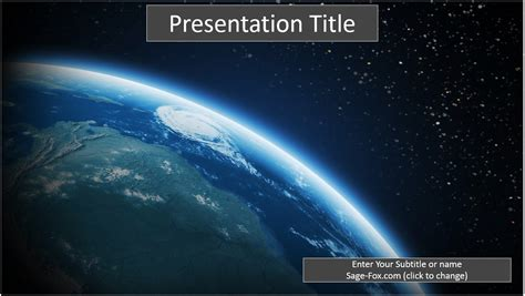 free earth from space powerpoint 6549 sagefox