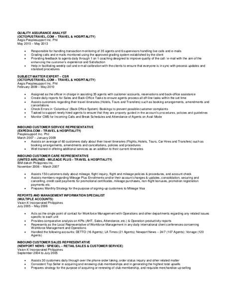 sle of updated resume jsales resume updated 053016
