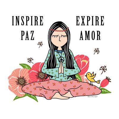 imagenes con frases sobre yoga inspire paz expire amor