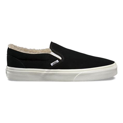 Fleece Slip Ons suede fleece slip on shop at vans