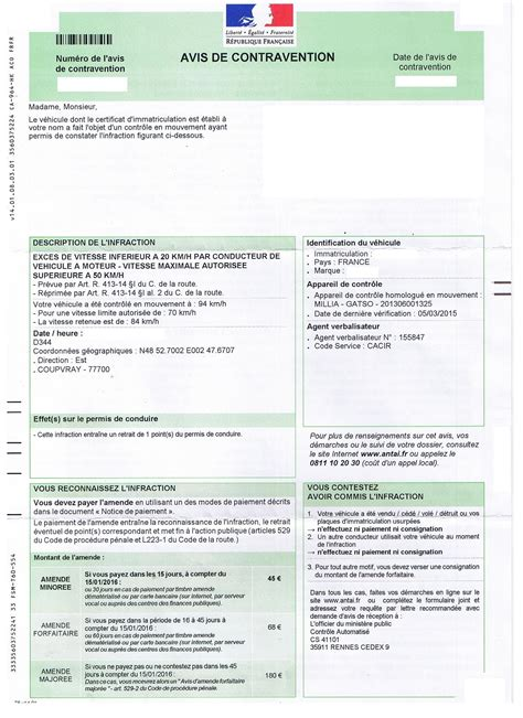 lettre contestation pv exemple lettre contestation pv