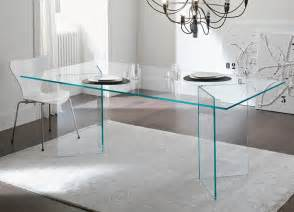 Tonelli bacco glass dining table modern glass dining tables