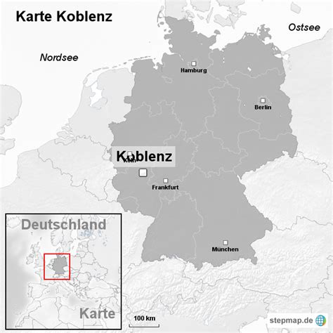 Deutsches Büro Grüne Karte Formular by Karte Koblenz Ortslagekarte Landkarte F 252 R Deutschland