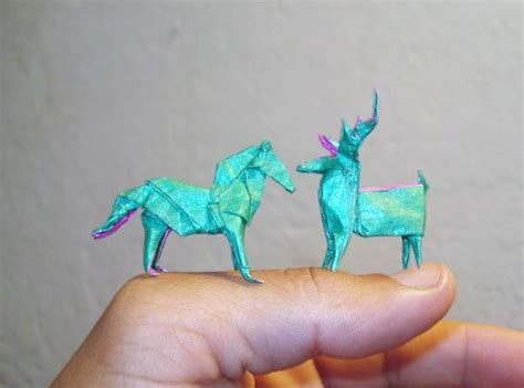 Mini Origami - marvellous origami miniatures folded by different origami