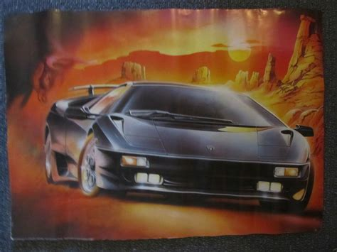 Lamborghini Diablo Poster Lamborghini Diablo Car Poster Print Bernard Hugil Michael