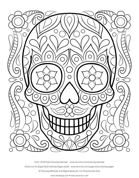 day of the dead art coloring pages free sugar skull coloring page printable day of the dead