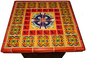 mexican tile decorating a table top mexican home decor