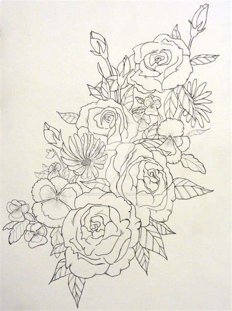 tattoo design wildflowers by stargardensbreath on deviantart