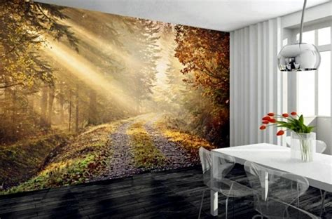 How To Make A Wall Mural murals forest enjoy the tranquility of nature wall