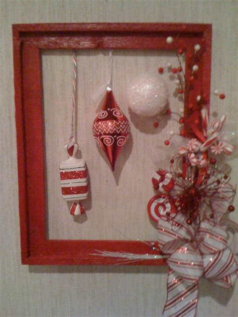 my picture frame wreath christmas ideas pinterest