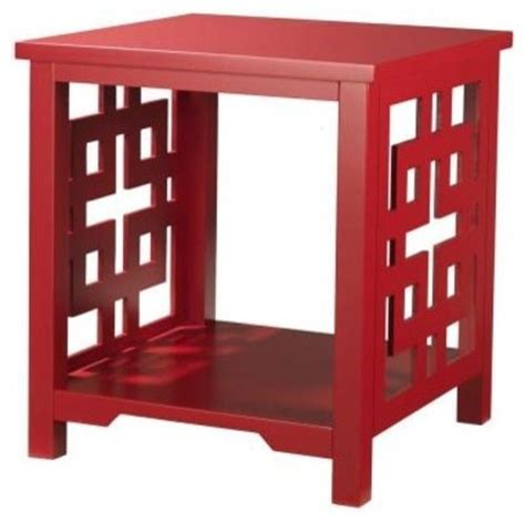 red accent tables knot red end table contemporary side tables and end