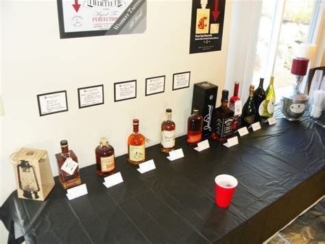 whiskey themed events 30th birthday party local whiskey tasting theme display