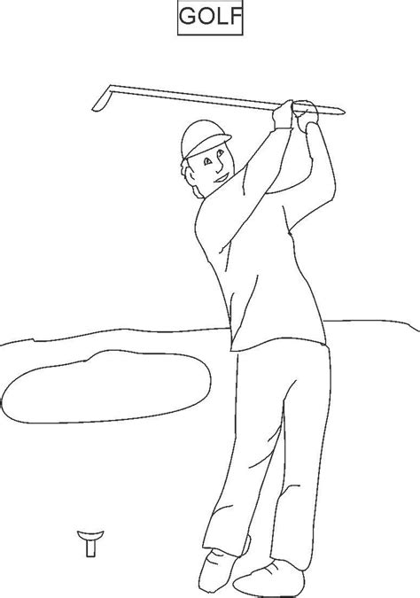 golf coloring book pages golf coloring printable page for kids