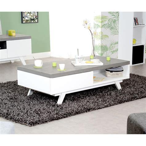 Table Basse Avec Tiroir by Table Basse Avec Tiroir Gris Et Blanc