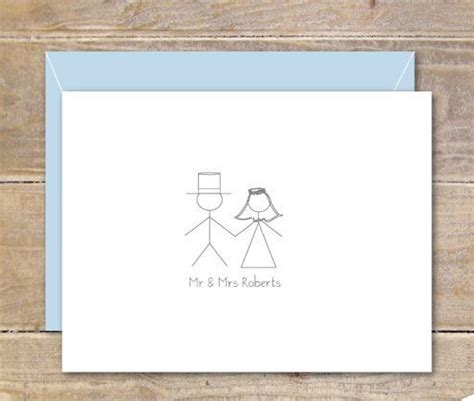 Wedding Stick Figures by Stick Figure Wedding Thank You Cards Stick Figures