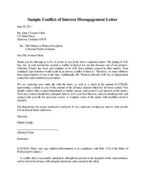 Business Letter Format Lawyer Termination Of Representation Letter Attorney 2017 Letter Format